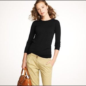 J.Crew Merino Wool Tippi Sweater in Black Small